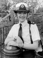 "Actress Stephanie Turner plays in the TV series ""Juliet Bravo"""