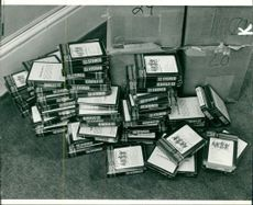 Some of the illegal 8-track cartridge.