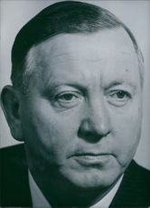 Portrait of West German Politician Alois Niederalt, 1963.
