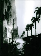 A natural disaster scene, 1964.