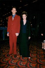 """Alicia Silverstone together with her respective at the movie premiere of """"Blast from the Past"""""""