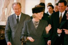 King Albert II and Queen Paola of Belgium on State Visit in Russia.