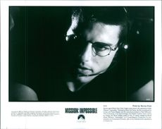"""1996 A scene of Tom Cruise from the  American action spy film directed by Brian De Palma """"Mission: Impossible""""."""