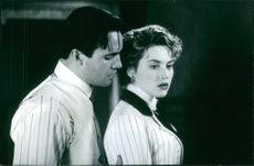 """Billy Zane and Kate Winslet in the movie """"Titanic"""" 1997"""