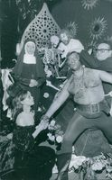 Performers playing horror performance in the show. 1970