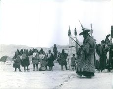 Native people of Nepal doing traditional activity.   1964