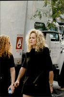 """Sharon Stone during the filming of """"Gloria"""" in Manhattan"""