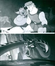 Different scenes from the animated movie Hercules, 1997.