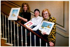 Lisa Newson with Claire Mathewson and Joy Crosland.