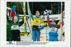 Petra Behle, Magdalena Forsberg and Corinne Niogret, took home the stalls in the World Cup competition.