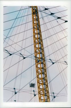 A detail on the Millennium Dome in London.