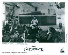 """A photo of Robert Mandel in the classroom in a film  """"The Substitute""""."""