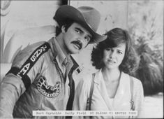 """Sally Field together with Burt Reynolds in the movie """"Now we're blowing the nose again""""."""