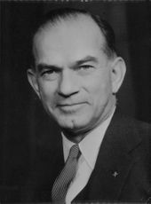 Portrait of James William Fulbright.