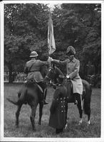 King Gustaf V handed over the new vowels at the Royal Fortification 300th Anniversary. - 27 September 1935