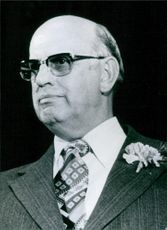 A portrait of Pieter Willem Botha in 1978.
