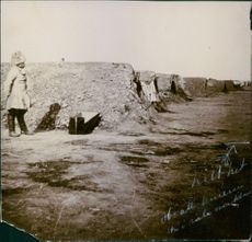 Russian camp along the river in Shahe.