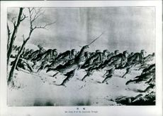 Japanese troops during the fighting in Korea.