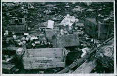 War damages after the German bombing in Namsos. 1940