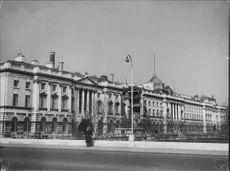 Somerset House in London. Now includes local tax authorities and Kings College