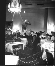 New Year celebrations at restaurants with balloons and streamers