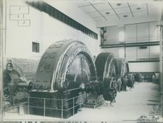 Interior of the Älvkarleby Hydroelectric Power Station in 1915.