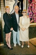 "Melanie Griffith with Paul Newman and his wife Joanne Woodward at the ""Broken Glass"" show"