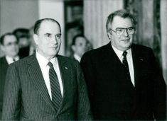 François Maurice Adrien Marie Mitterrand with his Prime minister Pierre Mauroy.