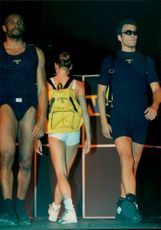 The Swedish Olympic Clothing is presented with a fashion show before the Olympic Games in Atlanta in 1996