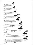 Overview of the various aircraft models included in the Lufthansa fleet.
