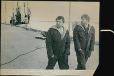 Two of the Gotland fishermen whose boats were rejected from the fishing zone of Soviet military.