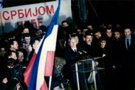 President Slobodan Milosevic speaks in Belgrade