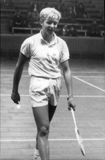 Tennis player Leif Johansson plays in Stockholm Open