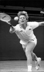 Boris Becker during Wimbledon 1985.