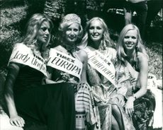 Contestants of a beauty contest. 1972