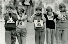 Stockholm marathon 1987. The youngest starting group on the minimaran