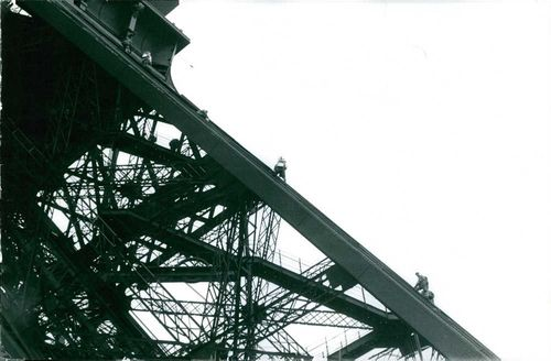 Part of Eiffel Tower.  - 1964