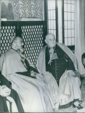 Cardinal Gregory Peter Agadjanian XV when in Venice meets Cardinal Giusseppe Angelo Ronalli (right), Petriarch of Venice, who was to become a Pope (John XXIII) after a few months.