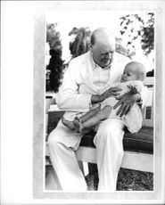 Winston Churchill and baby