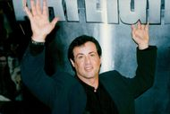 "Sylvester Stallone delivers his ""Daylight"" costume to Planet Hollywod Paris"