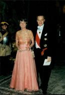 Ulf Dinkelspiel and Ms. attend gala dinner at Stockholm Castle during South Africa's President Nelson Mandela's State Visit