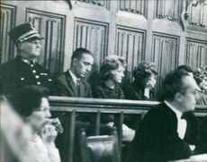The doctor, sister and mother of Suzanne Vandeput sitting inside the court house during the trial.
