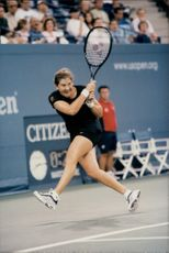The tennis player Monica Seles during the US Open 1998