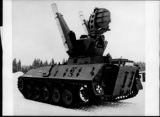 "The German version of the mobile system ""Roland"" mounted on a ""SPZ"" armored trolley"