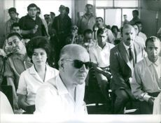 People at trial of Regis Debray, 1967.