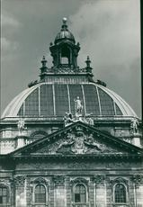 Munch Germany: the cupola of the justizpalast.