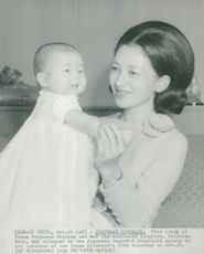 Crown Princess Michiko and Little Princess Nori
