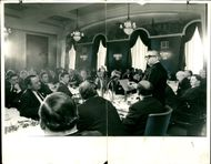 Lord George Brown addressing representatives of British trade and industrial organisations