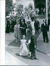 A photo of Princess Birgitta of Sweden & Prince Johann Georg von Hohenzollern married on 25 May 1961.
