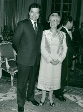 Diplomat Boris Pankin together with his wife Valentina